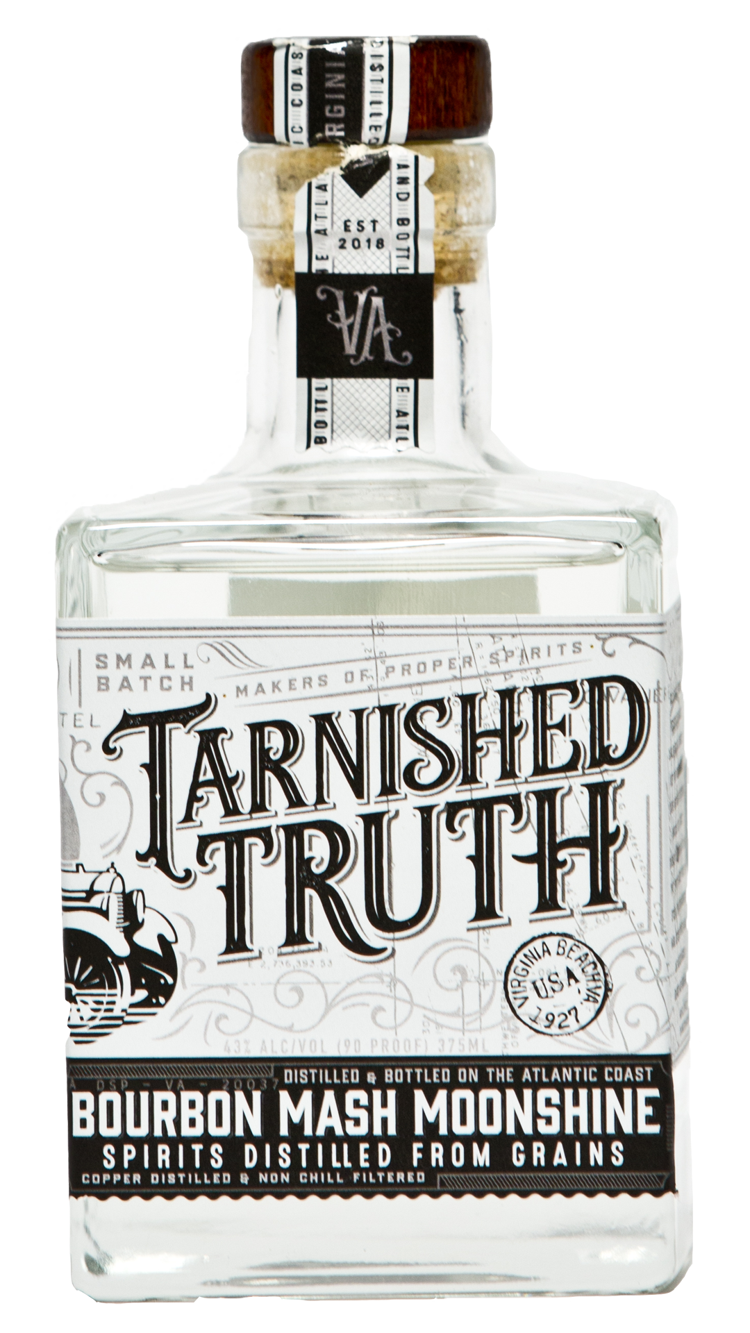 Bottle of Tarnished Truth Bourbon Mash Moonshine