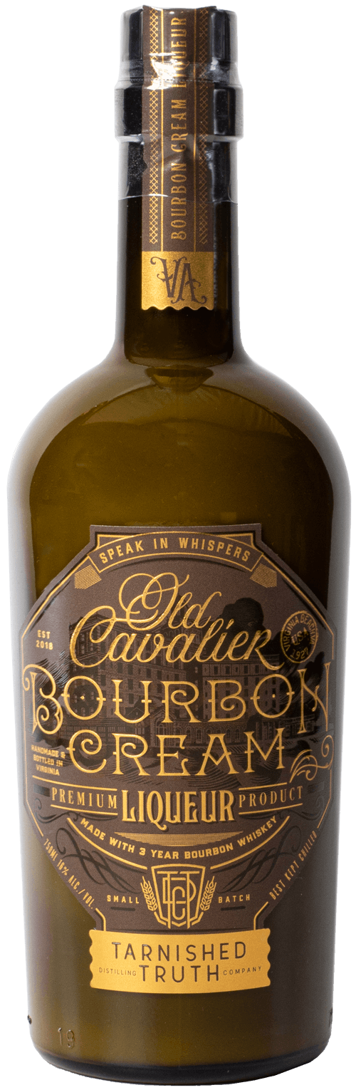 Bottle of Old Cavalier Bourbon Cream