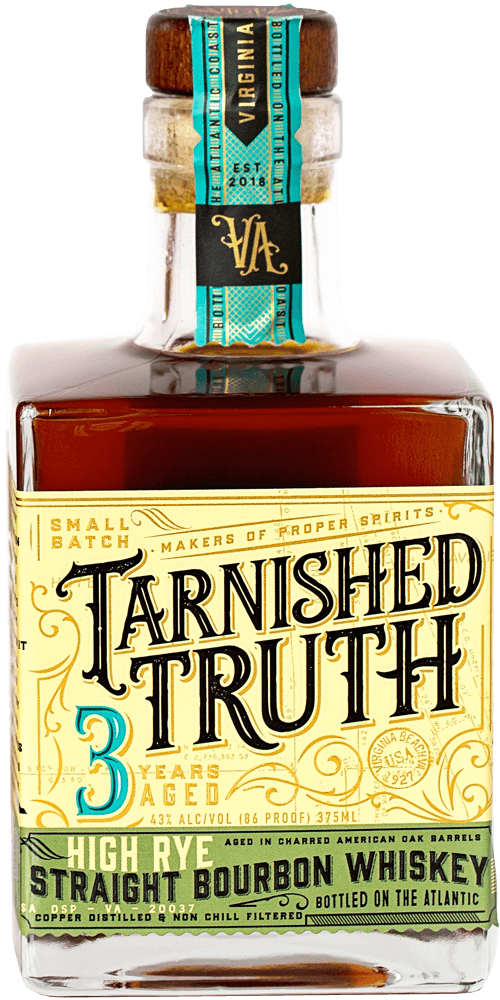 Bottle of Tarnished Truth HIGH RYE STRAIGHT BOURBON WHISKEY