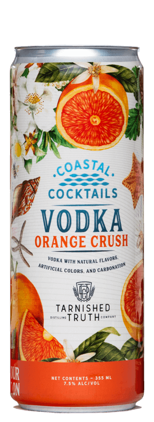 Bottle of Coastal Cocktails Tarnished Truth Canned Cocktails